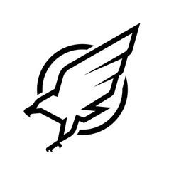 eagle logo emblem monochrome logo vector image