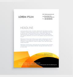 orange and black modern letterhead design vector image