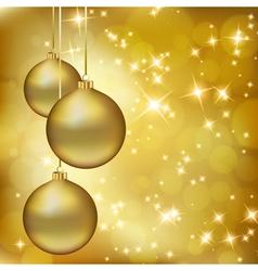 golden christmas balls vector image vector image