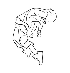 Hip-hop man dancer contour sketch vector image