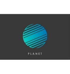 Planet logo deign Line planet Creative cosmic vector image