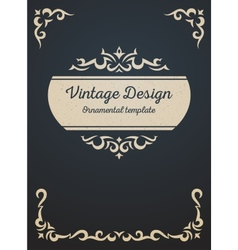 Vintage card design template vector image vector image