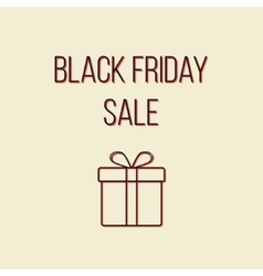 colored black friday sale lettering with outline vector image vector image