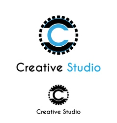 Creative studio logo vector image vector image