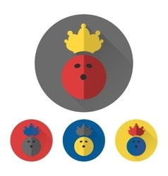 Flat bowling ball with crown vector image