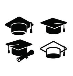 graduation map icon vector image