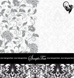 gray damask card vector image vector image