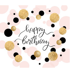happy birthday greeting card and party invitation vector image