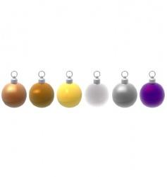 metallic Christmas balls vector image