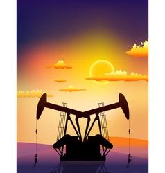 petrol pomp vector image vector image