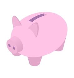 Piggy bank isometric icon vector image
