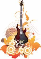 urban guitar graphic vector image