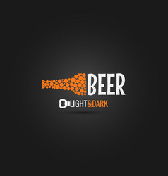 beer bottle opener design background vector image vector image