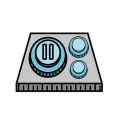 button pause control image vector image