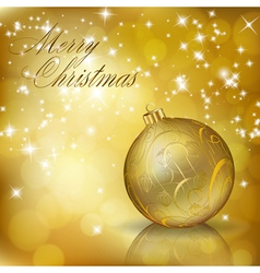 golden merry christmas vector image