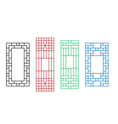 Korean ornament for door window wall and fence vector