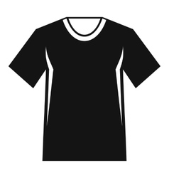 Men tennis t-shirt icon simple style vector image