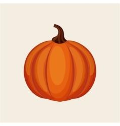 Orange pumpkin icon vector image