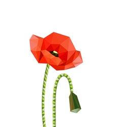 origami poppies vector image vector image