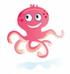sea octopus vector image