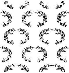 vintage decorative black seamless dama vector image