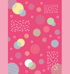 abstract circles shape collage memphis 80s 90s vector image