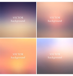 Abstract sunset blurred backgrounds vector image