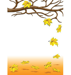 Autumnal falling of the leaves vector