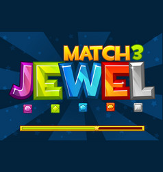 background gems match3 games set multicolored vector image