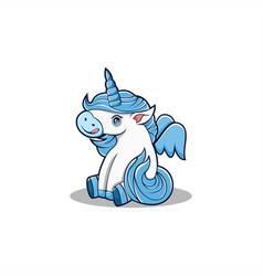 baunicorn mascot carton vector image
