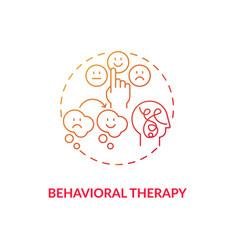 Behavioral therapy concept icon vector