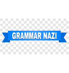 Blue stripe with grammar nazi title vector