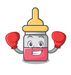 Boxing nassal drop character cartoon vector