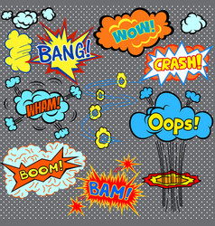 bright comics design elements vector image