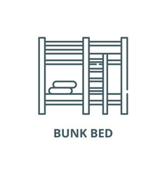 bunk bed line icon bunk bed outline sign vector image