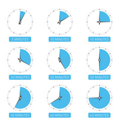 clock face with different time vector image