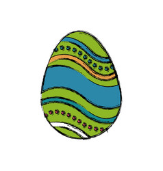 Colored easter egg celebration spring party vector