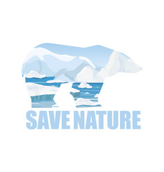 concept of saving arctick vector image