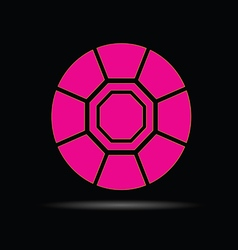Diamond pink on black background vector