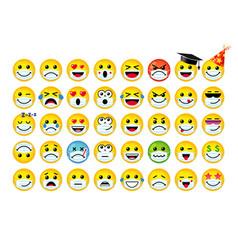 emoji icons 3d set in medical mask vector image
