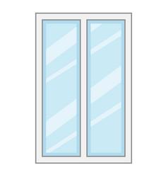 facade window frame icon cartoon style vector image