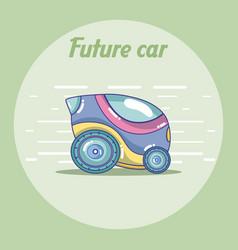 Future car vehicle concept vector