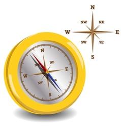 golden compass vector image