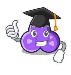 Graduation trefoil character cartoon style vector