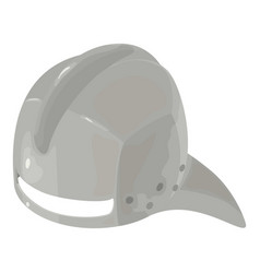 helmet knight iron icon isometric 3d style vector image