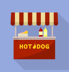 hot dog street shop icon flat style vector image