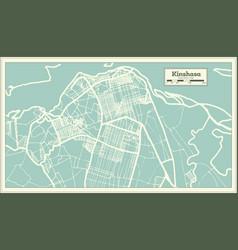 kinshasa democratic republic congo city vector image