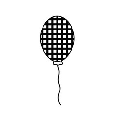 Line balloon to decoration and design the party vector