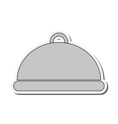 Menu plate restaurant design vector