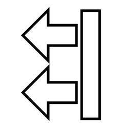 Move Arrows Left Outline Icon vector image